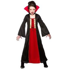 #PopularKidsToys Just Added In New Toys In Store!Read The Full Description & Reviews Here - Gothic Vampiress - Kids Costume 8 - 10 years - Child Sizes: 3-4 Years (110-122cm); 5-7 Years (122-134cm); 8-10 Years (134-146cm); 11-13 Years (146-158cm) The girls Gothic Vampiress costume includes a dress and collar Ideal for any Halloween themed childrens fancy dress Keep away from fire Sponge clean only Size/Age Size Information 3 – 4 years Height: 110-122cm. Chest: 61cm. Wais