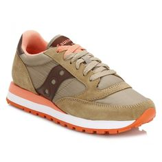 Saucony Womens Olive & Brown Jazz Original Trainers S1044-375 | TOWER London