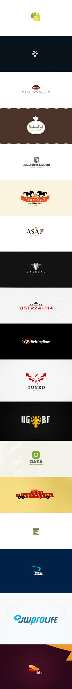 my logos '11 by Karol Sidorowski, via Behance