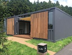 Modern Tiny House, Tiny House Cabin, Small House Design, Modern House Design, Building A Container Home, Container Buildings, Container Architecture, Container Office, Container Shop