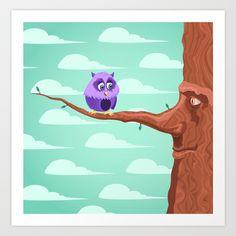 Tree Bird Art Print by Sydney's Doodles - $14.48