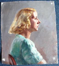 D A Green St Ives ISOBEL HEATH PORTRAIT OIL GIRL IN GREEN ST IVES CORNWALL LISTED | eBay