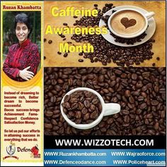 Caffeine Awareness Month Tea and coffee are an essential part of life for many of us. In fact the breakfast cup of coffee and mid-morning tea break are so deeply embedded in our daily routine that they have become automatic and unquestioned cornerstones of the day. This means that it can be difficult to envisage alternatives or doing away with them altogether. #youthicon #motivationalspeaker #inspirationalspeaker #mentor #personalitydevelopment #womenempowerment #womenentrepreneur…