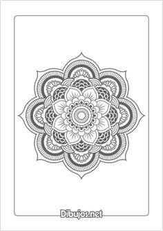 Imprimir dibujo de Mandala para colorear - Floral