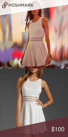 Free People Fitted with Daisies Dress White Free People Fitted with Daisies dress! No longer sold in stores. Only worn a few times without any stains or snags! Free People Dresses Mini