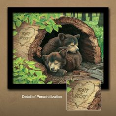 Click here to find Bear Cubs - Personalized Gift http://www.personal-prints.com/Bear-Cubs--Personalized-Gift_p_745.html#.Uii33dLOkxE $49.95