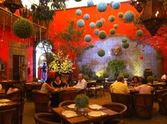 Love the decor of this restaurant in Tlaquepaque, Guadalajara, Mexico. Food is delicious, too!