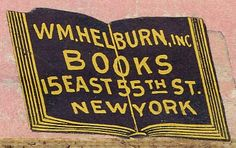 W.M. Helburn, New York (from the Gallery of Book Trade Labels)