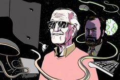 Stan Lee's Disastrous Attempt at a Dot-Com Business Stan Lee, Business, Business Illustration