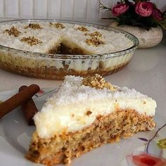 Image may contain: food Sweet Recipes, Cake Recipes, Snack Recipes, Snacks, Iftar, Carrot Pasta, Turkish Recipes, Cake Cookies, No Cook Meals