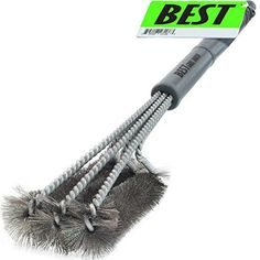"""Best BBQ Grill Brush STAINLESS STEEL) - 18\"""" Barbecue Cleaning Brush with Wire Bristles and Soft Comfortable Handle - Perfect Cleaner & Scraper for Grill Cooking Grates, Racks, & Burners * You can find more details by visiting the image link."""