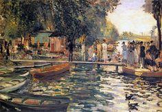 La Grenouillere (La Grenouillère) by Pierre-Auguste Renoir