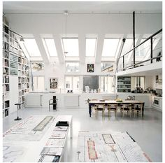 white, light, airy, work space