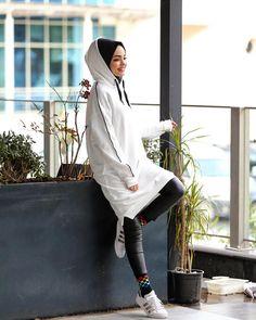 Image may contain: 1 person shoes Tesettür Kombinleri Modern Hijab Fashion, Street Hijab Fashion, Muslim Fashion, Hijab Wear, Hijab Outfit, Hijab Niqab, Modest Wear, Girl Hijab, Mode Hijab