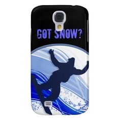 Snowboarding & Snowflakes Samsung Galaxy S4 Cases