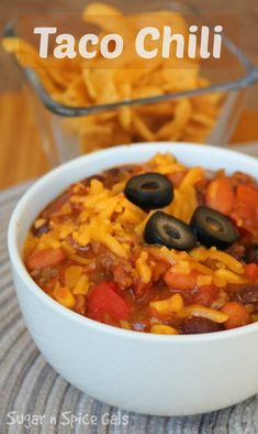 Gotta have me some of this delicious Taco Chili!