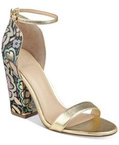 9443d9a92a5a64 GUESS Women s BamBam Block-Heel Dress Sandals Cute Shoes