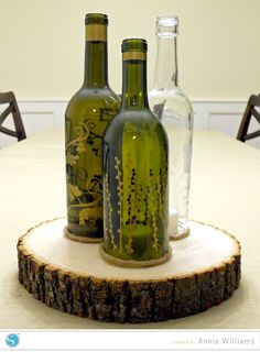 Wine Bottle Candle Holder by Annie Williams