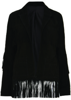 Suede Fringe Jacket, $490: Kate Moss for Topshop | Boca Raton Magazine