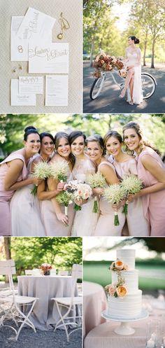Blush garden wedding via @stylemepretty