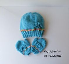 Knitted child's Beanie, Beanie, blue Merino Wool child's hat and gloves Pull Bebe, Knitted Hats, Winter Hats, Boutique, Knitting, Etsy, Fashion, Moda, Tricot