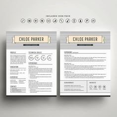 S P E C I A L / / 2 resume templates for $20 with coupon code TAKETWO. Can't decide on just one template design? Don't! Get two for only a few dollars more, because choice is a beautiful thing.  Stand out in a sea of applicants and get noticed with these professionally designed and easily customizable resume and cover letter templates. Customize the colors, fonts, headings and layout to create a piece that's uniquely your own. No advanced design skills are necessary - look your best...