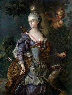 Bild:  Charles Amédée Philippe van Loo - Luise Henriette Wilhelmine von Anhalt-Dessau (1750-1811) as Diana