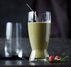 Banana Raspberry Green Smoothie