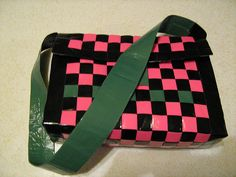 a duct tape purse I would like make for myself (with different colors) if I had any crafting skills or patience for it...