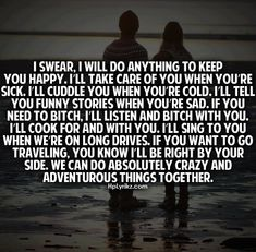 <3 The most important thing is that you are right there, doing all of this for me too. Except the singing :-p