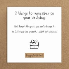 Handmade Funny Birthday Card Forget