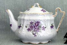 Wayside Pansy Victorian Teapot I have a tea cup and saucer that would go nicely with this!