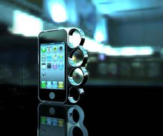 Knucklecase for that iPhone 4 and 4S, it's time to butch that iPhone up!!!