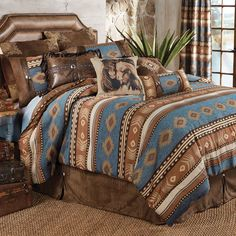 Save - on all Western Bedding and Comforter Sets at Lone Star Western Decor. Your source for discount pricing on cowboy bed sets and rustic comforters. Best Bedding Sets, Queen Bedding Sets, Luxury Bedding Sets, Brown Bed Linen, Neutral Bed Linen, Southwestern Bedding, Southwest Rugs, Southwest Decor, Southwestern Style