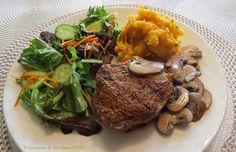La cuisine de Messidor: Médaillons de haut de surlonge bbq, sauce aux champignons et au whisky +