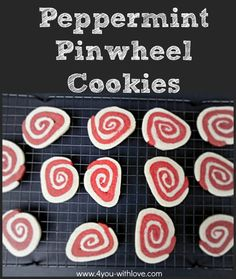 Peppermint Pinwheel Cookies are one of my family's favorite holiday cookies. These slice & bake cookies are a cross between sugar cookies & peppermint.