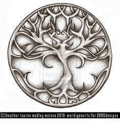 Copyright Heather Lauren Medley Malone - must actually pay to use this design (it's meant for a tattoo). It's a nice interpretation of the tree of life.