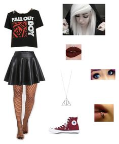 A fashion look from December 2017 featuring tee-shirt, flared skirts and fishnet stockings. Browse and shop related looks. Fishnet Socks, Fishnet Stockings, Flare Skirt, Hot Topic, Size Clothing, Plus Size Outfits, Rebel, Skater Skirt, Tee Shirts