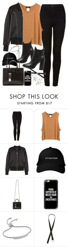 """""""Outfit for autumn with black jeans"""" by ferned ❤ liked on Polyvore featuring Topshop, H&M, Windsor Smith, Yves Saint Laurent, Casetify and Monica Vinader"""