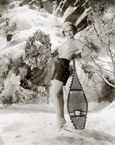 Heels and shorts in the snow - I wonder if actress Eleanor White had Canadian blood in her :))