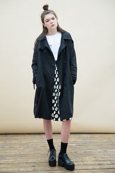 Oversized Classic Trench Coat Black - THE WHITEPEPPER, 110 GBP