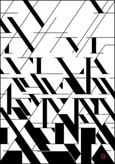 An awesome design using the Didot font. I love how this stays true to the original structure and fractures of the text.