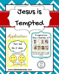 Jesus Is Tempted Biblefun Lifeofjesus NTBiblelesson Preschoolbiblelessons
