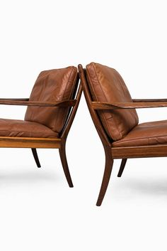 Ib Kofod-Larsen Samsö easy chairs by OPE in Sweden | From a unique collection of antique and modern lounge chairs at https://www.1stdibs.com/furniture/seating/lounge-chairs/