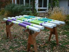 Jump poles in fashion colors