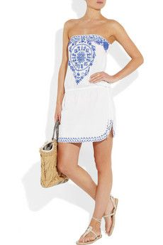 Strapless Embroidered Cotton dress -- LOOOOVE this!