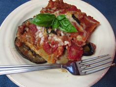 Meaty Mediterranean Lasagna from Once A Month Mom.  I am trying to find eggplant recipes that my family will love as much as our favorite baked eggplant, this might be a winner, especially if I peel and purge the eggplant first.