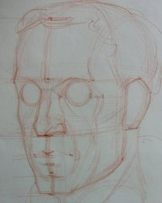 Step 2 #art #artist #portrait #sketch #drawing #portraitdrawing #anatomydrawing #anatomy #head #construction #figure #la #aesthetic #howtodraw #bestdm #stepbystep #howto by ramon.alex.hurtado