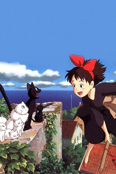 Celebrate The Birthday Of Studio Ghibli With These Wallpapers For Smartphones Studio Ghibli Films, Art Studio Ghibli, Studio Ghibli Characters, Kiki Delivery, Kiki's Delivery Service, Ps Wallpaper, Cartoon Wallpaper, Apple Wallpaper, Animes Wallpapers