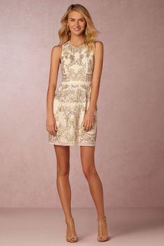 short, embellished party dress from Needle & Thread   Austin Dress from BHLDN